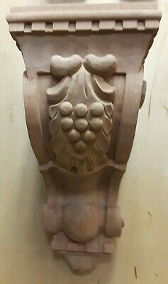 "New Corbel G-4 Cherry Hand Carved Solid Hardwood 5"" x 5-3/4"" x 10"" Corbels Wood"