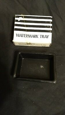 Vintage BLACK AMETHYST STAMP WATERMARK TRAY w/ Orig Box, Excellent Cond
