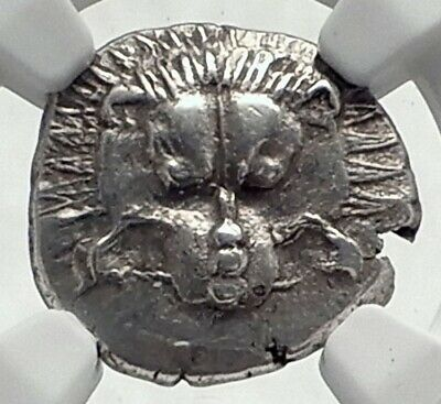 Dynasts of Lycia PERIKLES Ancient Silver Greek Coin LION TRISKELES NGC i77335