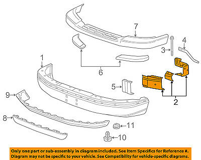 NEW BUMPER BRACKET FRONT RIGHT FITS 2003-2014 CHEVROLET EXPRESS 1500 15753330