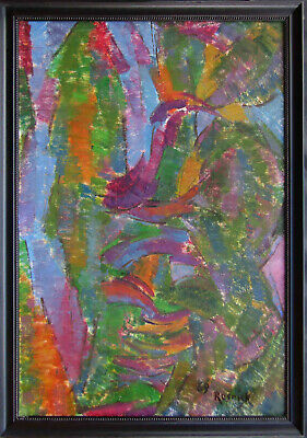 LISTED Milton Resnick Large Vintage Abstract Expressionist Oil Painting NO RES.