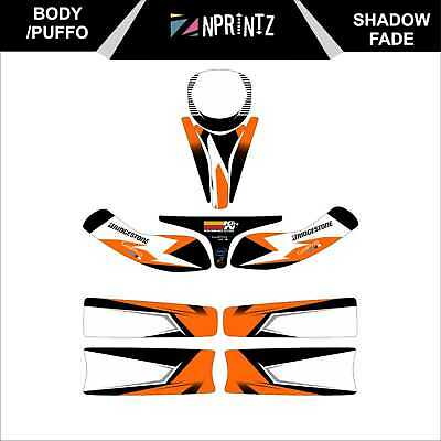 Puffo Bambino Shadow Fade Full Kart Sticker Kit - Karting -Cadet-Rookie