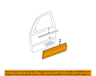 Cadillac GM OEM 02-06 Escalade FRONT DOOR-Body Side Molding Right 88935291