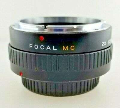 FOCAL MC 2x Converter Lens with Caps and Case 20-06-77 Fast Free Shipping