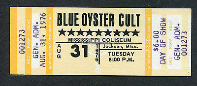 1979 Blue Oyster Cult Unused Full Concert Ticket Jackson Don't Fear The Reaper