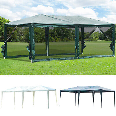 10 X 20 Gazebo Canopy Cover Tent Patio Party W Removable Mesh Side
