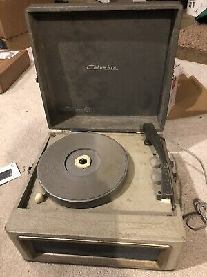 VINTAGE COLUMBIA PHONOGRAPH RECORD PLAYER COLUMBIA MODEL 512- Works