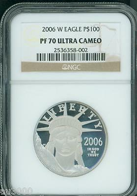 2006-W $100 PLATINUM EAGLE STATUE of LIBERTY 1 Oz. NGC PF70 PROOF PR70 CAMEO !