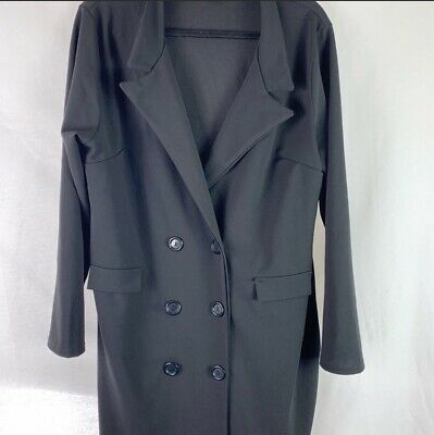 ee72321cf055 Boohoo Women's Plus Size Button Suit Dress Black Size 20 NWOT New Without  Tags