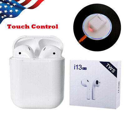 i13 TWS Bluetooth 5.0 Earphone Touch Control Earbuds Upgraded Wireless Charging