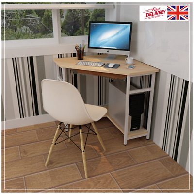 Corner Computer Desk Wooden Small Table Study Workstation