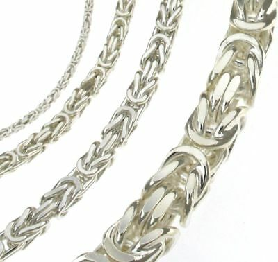 NECKLACE CHAIN BIZANTINE new, Silver-plated Men Women Jewellery From ITALY
