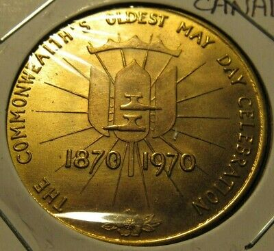 1970 The Commonwealth's Oldest May Day Celebration New Westminster Canada Token