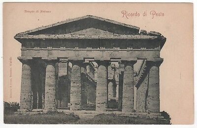 RICORDO DI PESTO Italy ITALIA PC Postcard PAESTUM Greetings From TEMPLE NEPTUNE