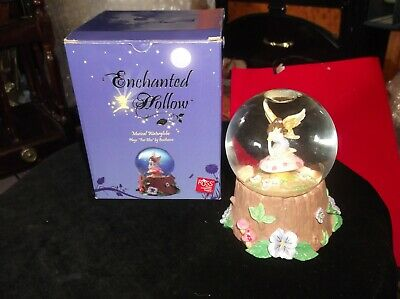 Collectable Russ Berrie Enchanted Hollow Musical Snow Globe + Box Excellent