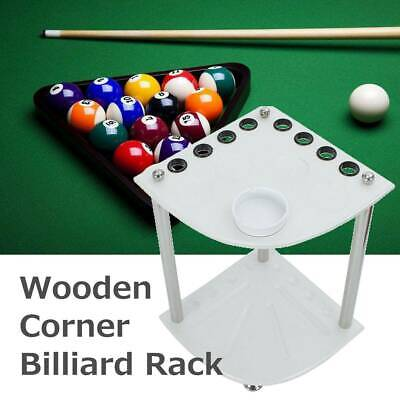 CORNER FREESTANDING 8 WAY WOODEN POOL or SNOOKER CUE RACK / HOLDER For 8 CUES