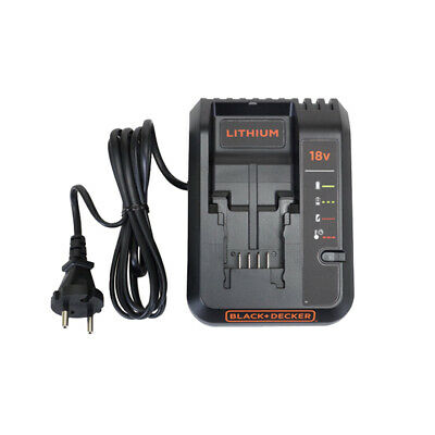 Black and Decker 2.0A Fast Charger for 18V Lithium-ion Batteries