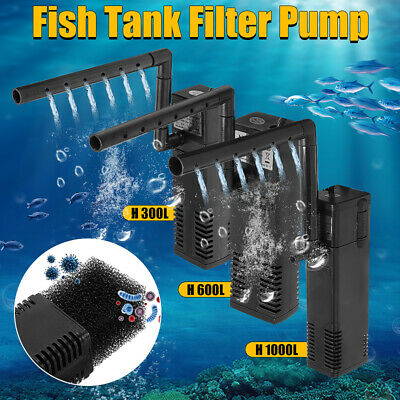 UK Internal Aquarium Fish Tank Filter Filtration Submersible Pump Spray Bar