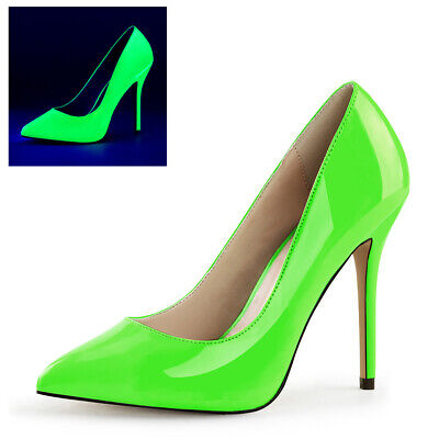Amuse-20 Pleaser Damen High Heels Pumps hell leuchtend in neon fuchisa Gr 35-41