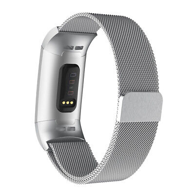 Magnetic Stainless Steel Milanese Wrist Strap Band For Fitbit Charge 3 Watch New