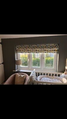 Roman Blind Made in Madura Fabric Chartreuse Charcoal
