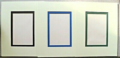 "2 Layer Die-Cut Picture Mount 9"" x 7"" with Aperture 4.75"" x 3.25""  1400mic NEW"