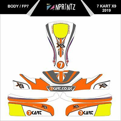 Fp7 -  7Kart X9 2019   Full Kart Sticker Kit - Karting - Otk - Rotax Iame