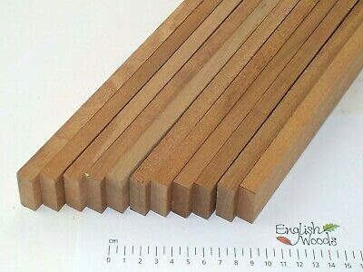 10 Sapele wood battens strips mouldings. Solid timber. 31 x 12 x 940mm. 2987