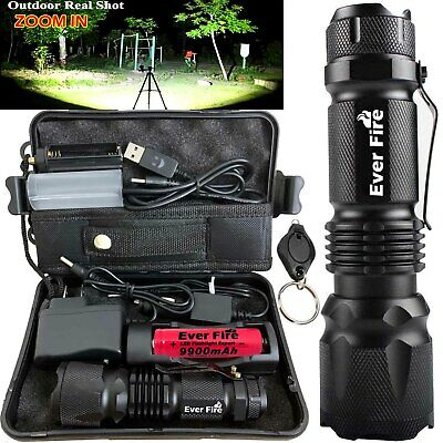Powerful 250000LM Zoom X800 Tactical Military T6 LED Flashlight Torch Work Light