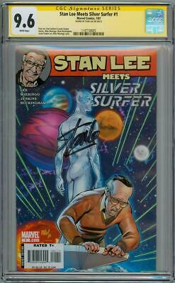 Stan Lee Meets Silver Surfer #1 Cgc 9.6 Signature Series Signed Stan Lee Marvel