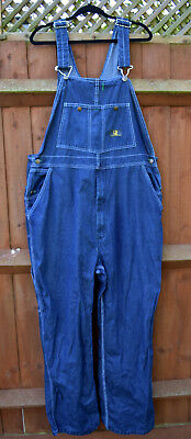 Clean Worn Distressed Oversized Baggy Overalls Dungarees REAL WORKWEAR 42/32