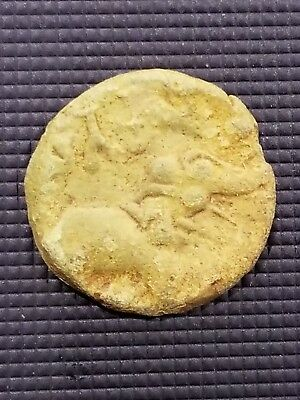 ANCIENT INDIA Bronze Coin of  Satakarni Satavahana Kings BC 271 - 220 AD. ST-K10