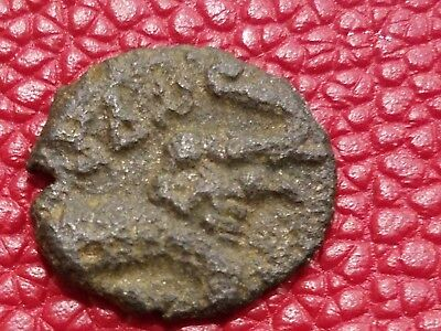 ANCIENT INDIA Bronze Coin of  Satakarni Satavahana Kings BC 271- 220 AD.