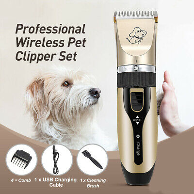 Rechargeable Cat Dog Clipper Cordless Pet Clippers Hair Shaver Grooming Trimmer*