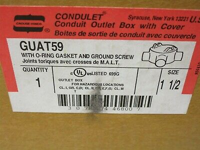 Crouse Hinds GUAT59 Explosionproof conduit box with cover New