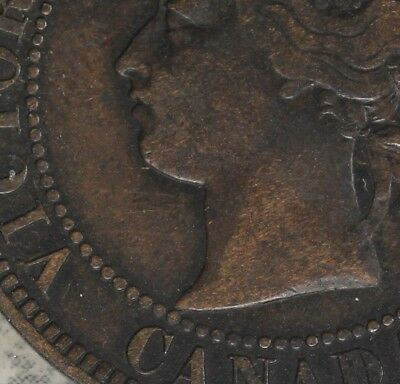 Nice Very Fine Condition 1884 Canada Large Cent!!  C1 Obverse!!!