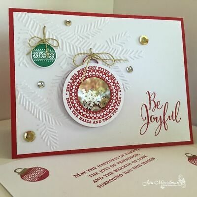 Stampin up Pine Bough Embossing folder~Christmas