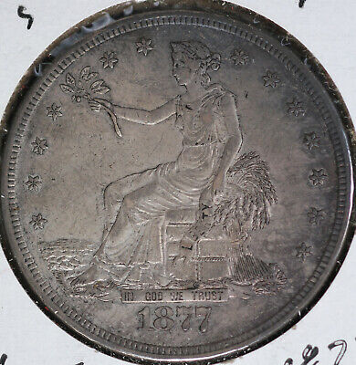 NIce 1877-S Trade Dollar!  Extra Fine Condition!!  Small S Variety