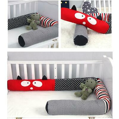 Cartoon Crib Bumper Guards Liner Leg Pillow Stroller Cushion for Baby Sleep safe