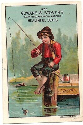 Gowans & Stover's Guaranteed Absolutely Pure and Healthful Soaps Trade Card;