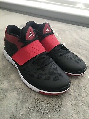 size 40 e6e31 fabd3 Nike AIR JORDAN FLIGHT FLEX TRAINER 2 (Men s 10.5) Black White Red