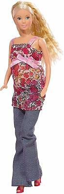 Pregnant Barbie Doll Kids Toy Steffi Love Girl Removable Tummy Baby Dolls Gift