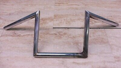 "Vintage Chrome Chopper Bobber 7/8"" Z Bar Handlebars Bars *Repaired* PL189+"