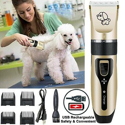 Pet Shave Clipper Hair Low Noise Cordless Electric Dog Cat Grooming Trimming