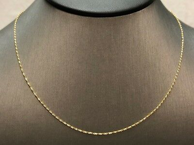 Very Pretty Solid 14K Yellow Gold 16.5-Inch Box Chain Unisex Necklace