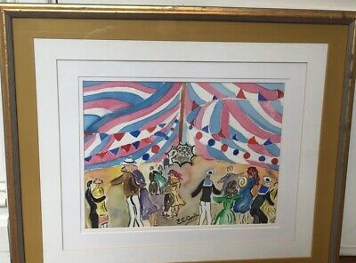Framed CIRCUS PAINTING