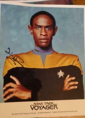 Tim Russ As Lt. Tuvok  Autograph in Star Trek Voyager 1997  8 x10   NO COA
