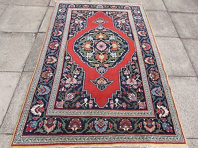 Fine Antique Traditional Hand Made Caucasian Red Wool Oriental Rug 200x137cm