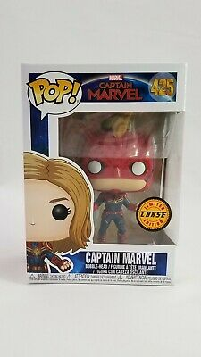 Funko Pop! Marvel: Captain Marvel Masked Chase #425 Brie Larson New In Box