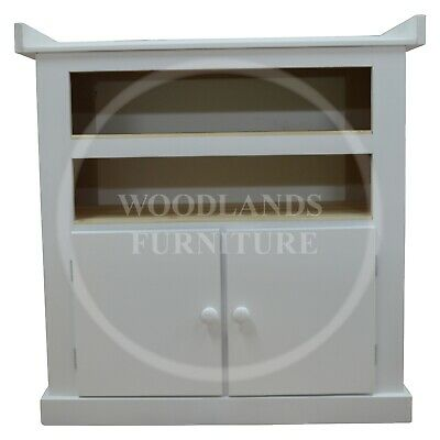 Handmade Dewsbury 1 Shelf 2 Door Baby Changing Unit In White (Assembled)